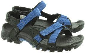 timberland eldridge sandals in black in black
