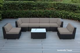 Gray Wicker Patio Furniture - ohana patio outdoor wicker furniture sectional 7 pc additional