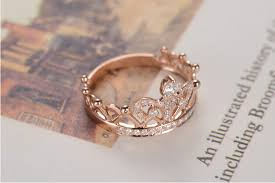 crown style rings images Vintage pure 18k gold crown style noble synthetic diamond women jpg
