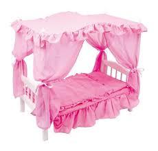baldacchino lettino letto a baldacchino per bambole in legno gioco giocattolo x bambine
