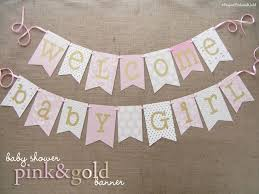 pink and gold baby shower banner 1 0 gold baby showers shower