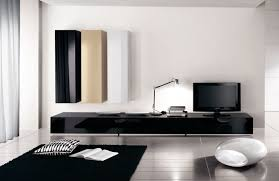 living room tv stand ideas floating walnut cabinet beige leather