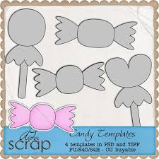aida scrap candy templates