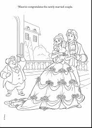 unbelievable disney wedding coloring pages with beauty and the