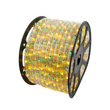 yellow and green 150 chasing rope light spools 3 wire 120 volt