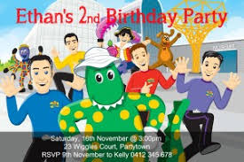 personalised wiggles birthday party invitation invite