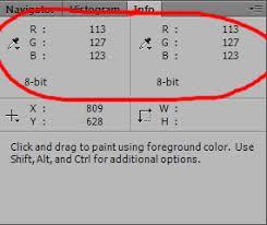 photoshop always show info panel color values photoshop
