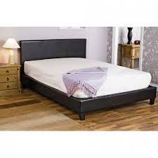 faux leather double bed frame black poundstretcher poundstretcher
