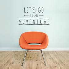 let adventure wall decal quote