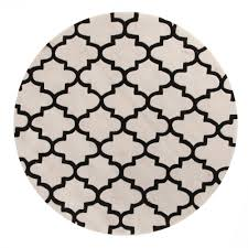 Black White Rugs Modern by Gem Lattice Round Rug Off White And Black Beyond Bright