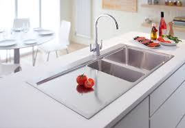 kitchen sinks contemporary stainless steel double sink stainless
