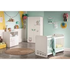 chambre bébé promo pack promo ensemble lit bébé à barreaux 60 x120 cm commode à