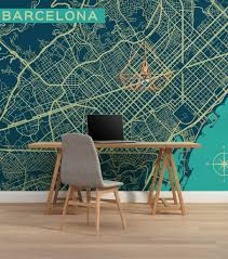 Wall Map Murals City Map Murals Many Cities The Inside