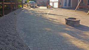 Paver Patios With Fire Pit by Paver Patio Extension In Boston Harbor Ajb Landscaping U0026 Fence