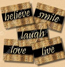 Live Love Laugh Home Decor Cheetah Decor Etsy Leopard Print Inspirational Wall Art Girls Room