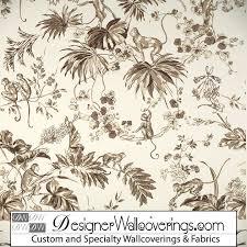 monkey wallpaper for walls monkey toile wallpaper pal 42038 designer wallcoverings
