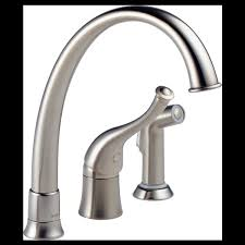 Contemporary Kitchen Faucet by Single Handle Kitchen Faucet With Spray 61601 Ss170 Providence