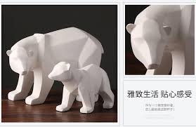 aliexpress buy simple white abstract geometric polar bears