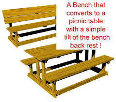 Foldable Picnic Table Bench Plans by R14 1615 A Convertible Picnic Table Bench Vintage Woodworking