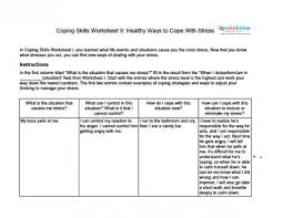 Mental Health Worksheets For Adults Coping Skills Worksheets For Adults