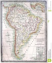 A Map Of South America Old Map Of South America Stock Image Image 11693761