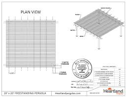 Aluminum Pergola Kits by Our Vinyl Pergola Kit Materials Heartland Pergolas