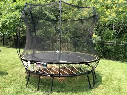Trampoline Backyard 3 Reasons You Don U0027t Want A Spring Free Trampoline Backyard
