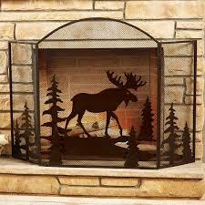 rustic fireplace screens ideas new lighting rustic fireplace