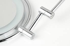 Mirrored Bathroom Accessories - brass chrome bathroom led cosmetic mirror in wall mounted mirrors