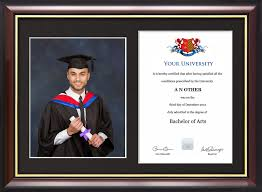 graduation frame dual graduation certificate and photo frame traditional style