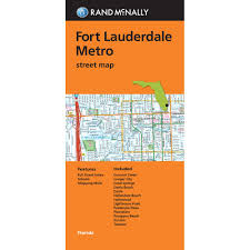 Map Of Pompano Beach Florida by Rand Mcnally Folded Map Fort Lauderdale Metro Street Map Rand