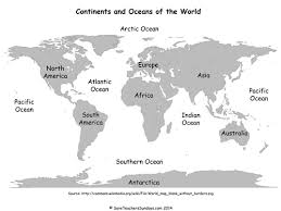 continents on map continents and oceans ks1 lesson plan activities by
