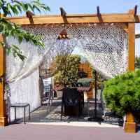 wooden garden pergolas custom made from redwood