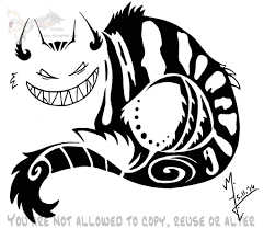 cheshire cat tribal by arixona on deviantart