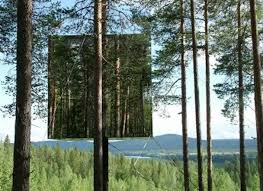 almost invisible mirrored tree house built in sweden treehugger