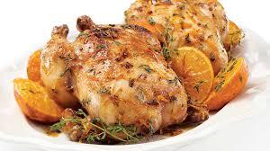 la cuisine aux images poulets de cornouailles aux clémentines aux baies de genièvre et au