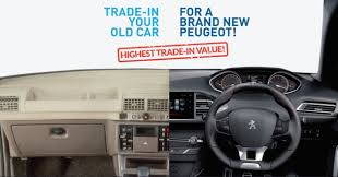 trading in a brand new car ad peugeot trade in trade up enjoy the highest trade in value