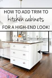 Molding On Kitchen Cabinets How To Add Detail To A Plain Kitchen Island The Chronicles Of Home