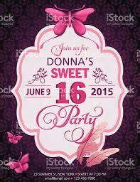 sweet 16 birthday party invitation stock vector art 534078479 istock