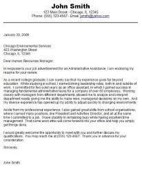 cover letter sample student