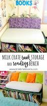 book storage milk crate book storage and reading bench brie brie blooms