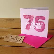 75th birthday card seventy five birthday gift milestone