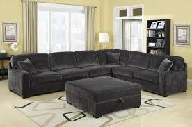 Grey Velvet Sectional Sofa Furniture Grey Velvet Sectional Sofa With Storage Ottoman