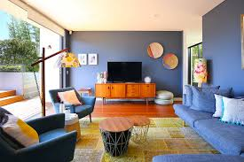 Orange Livingroom by Blue Living Room Ideas