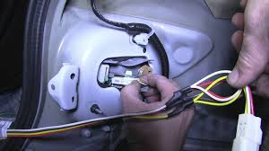 installation of a trailer wiring harness on a 2011 toyota corolla