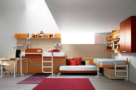Triple Deck Bed Designs Bedding Modern Bunk Beds With Stairs Stylish Bunk Beds