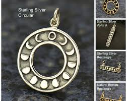silver moon necklace pendants images Silver moon pendant etsy jpg