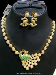 stone necklace sets images Imitation cz stone peacock necklace set peacocks green stone jpg