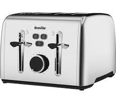 Breville 4 Slice Smart Toaster Buy Breville Colour Notes Vtt735 4 Slice Toaster Stainless Steel