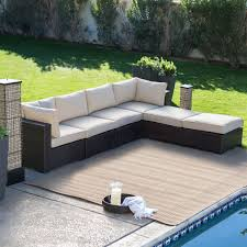 Sectional Patio Furniture Sets - outdoor 6 piece sectional sofa patio furniture set